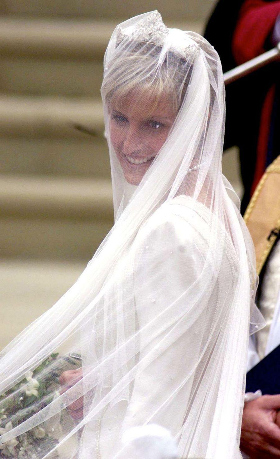 Sophie Rhys-Jones le jour de son mariage à Windsor, le 19 juin 1999