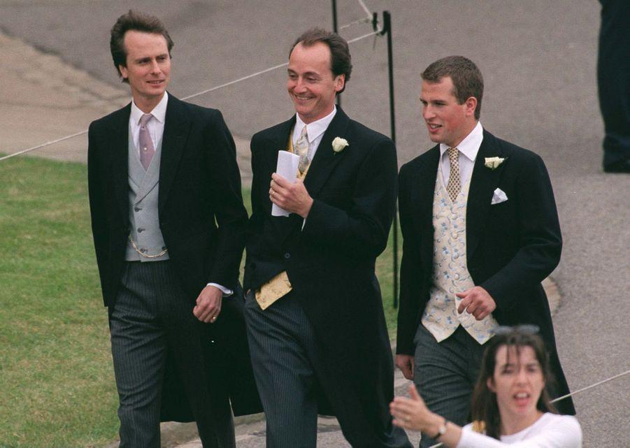 Le fils de la princesse Anne Peter Phillips (à droite) à Windsor, le 19 juin 1999