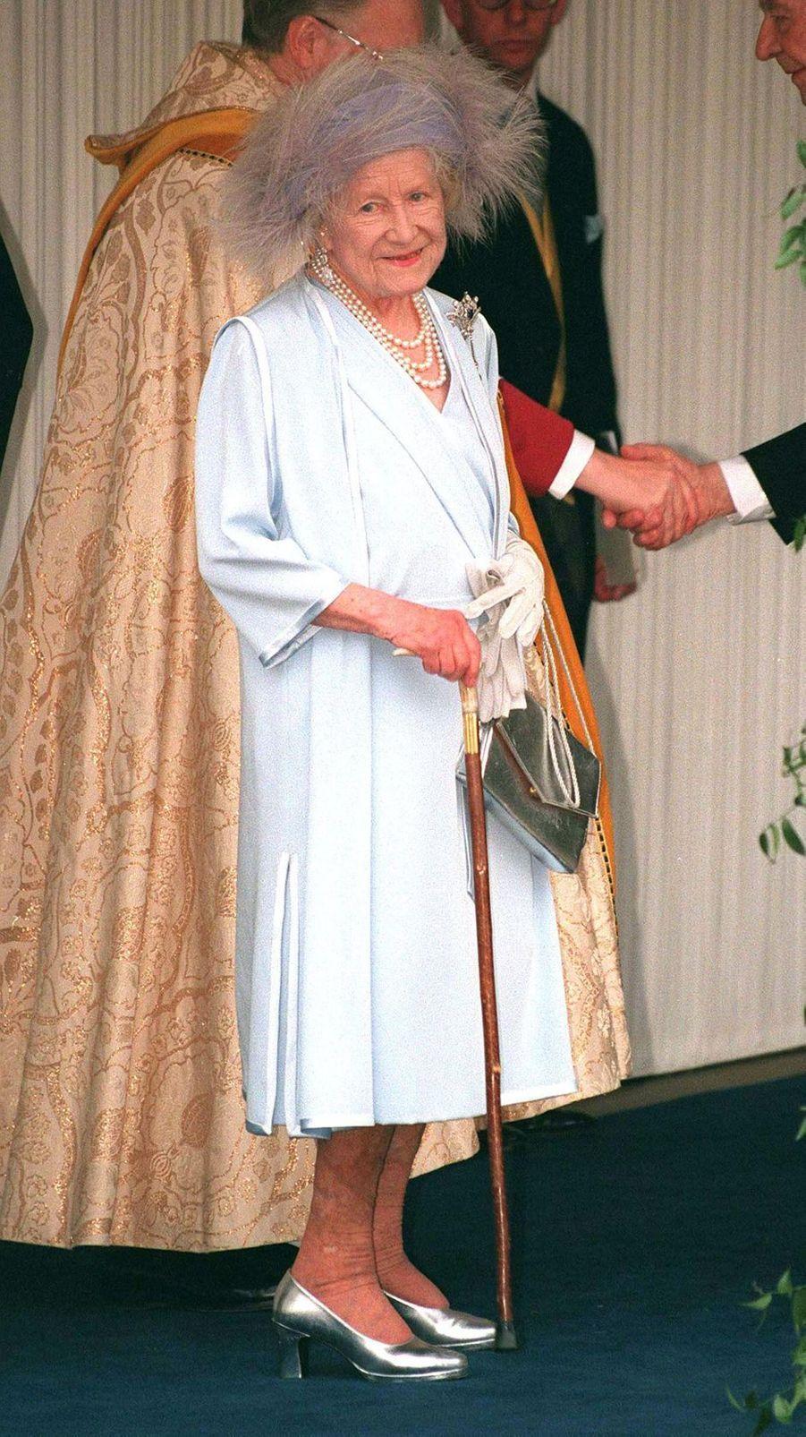 La Queen Mum Elizabeth, à Windsor le 19 juin 1999