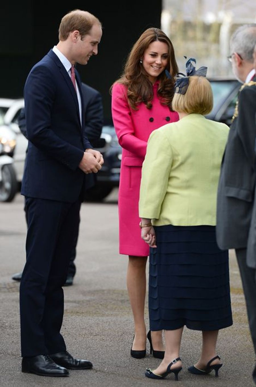Kate née Middleton et le prince William arrivent au Stephen Lawrence Centre à Londres, le 27 mars 2015