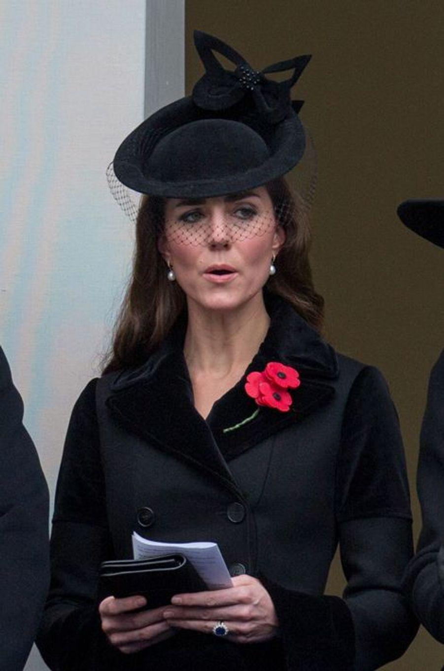 La duchesse de Cambridge Kate à Londres, le 8 novembre 2015