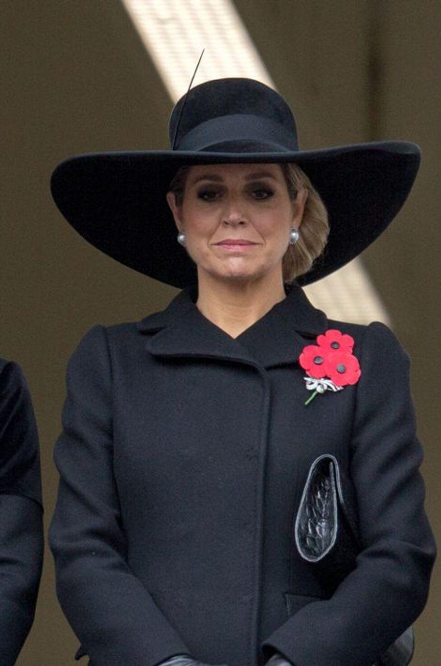 La reine Maxima des Pays-Bas à Londres, le 8 novembre 2015