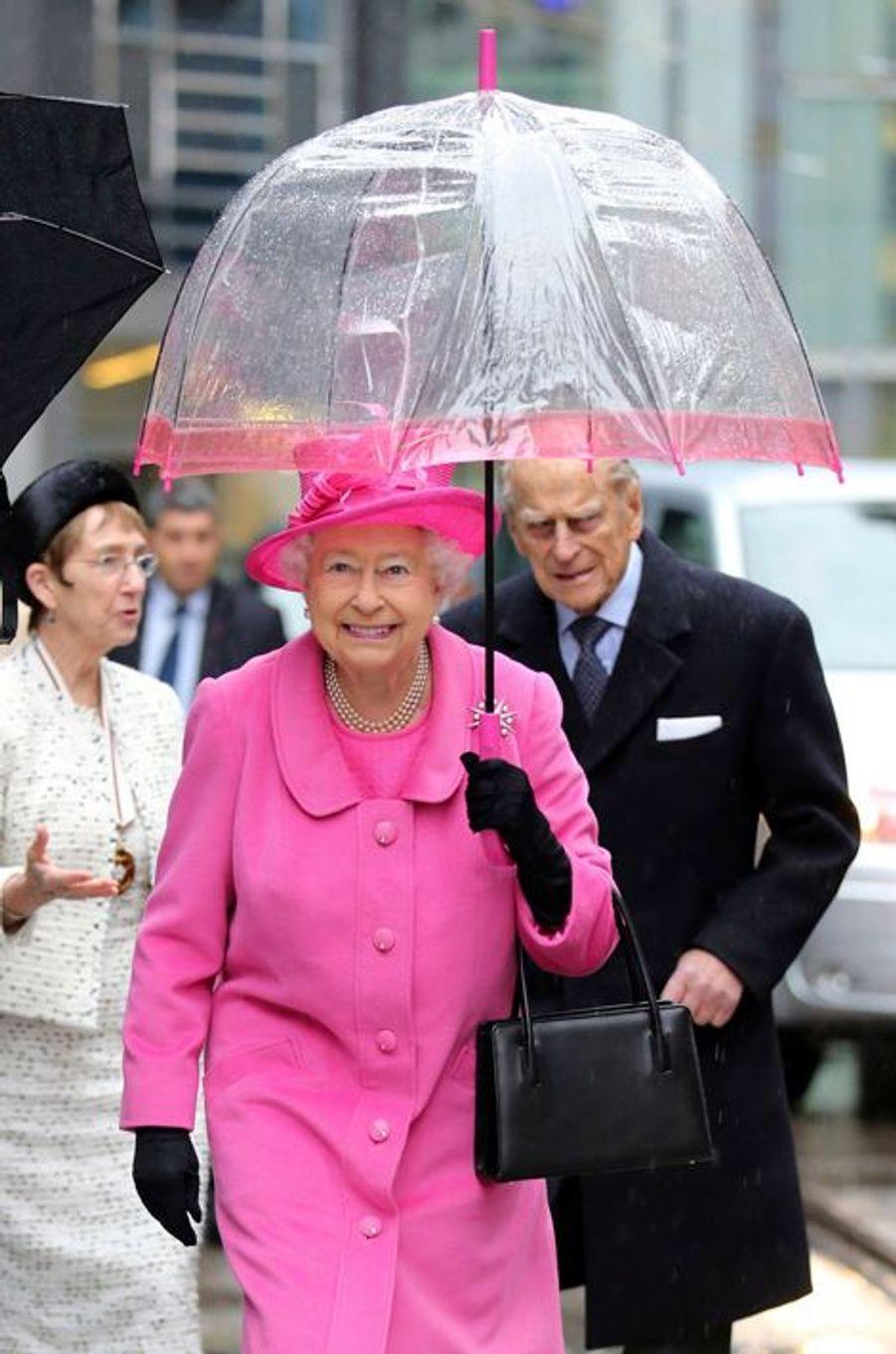 La reine Elizabeth II et le prince Philip à Birmingham, le 19 novembre 2015