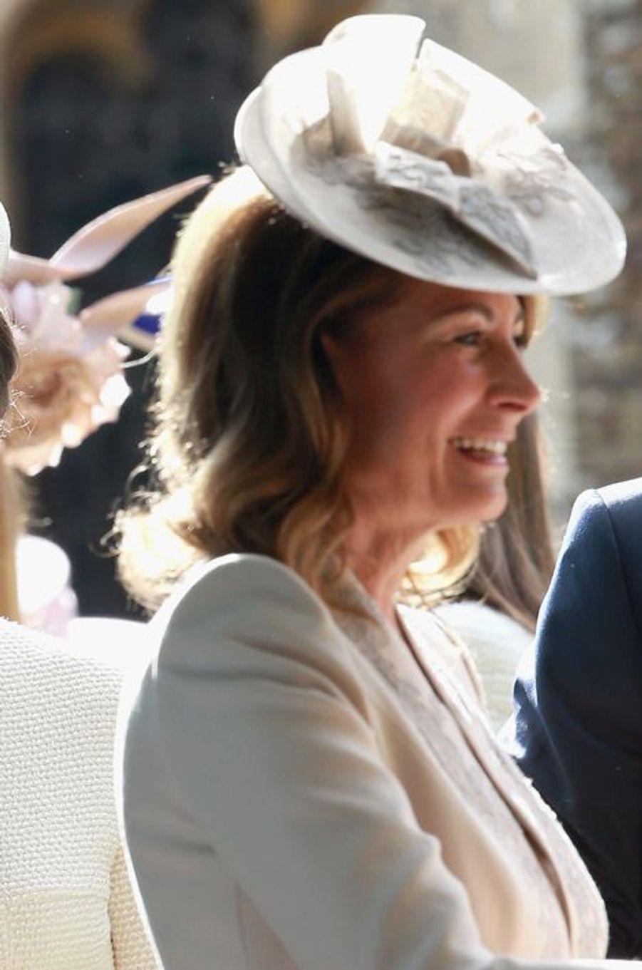 Carole Middleton au baptême de la princesse Charlotte à Sandringham, le 5 juillet 2015