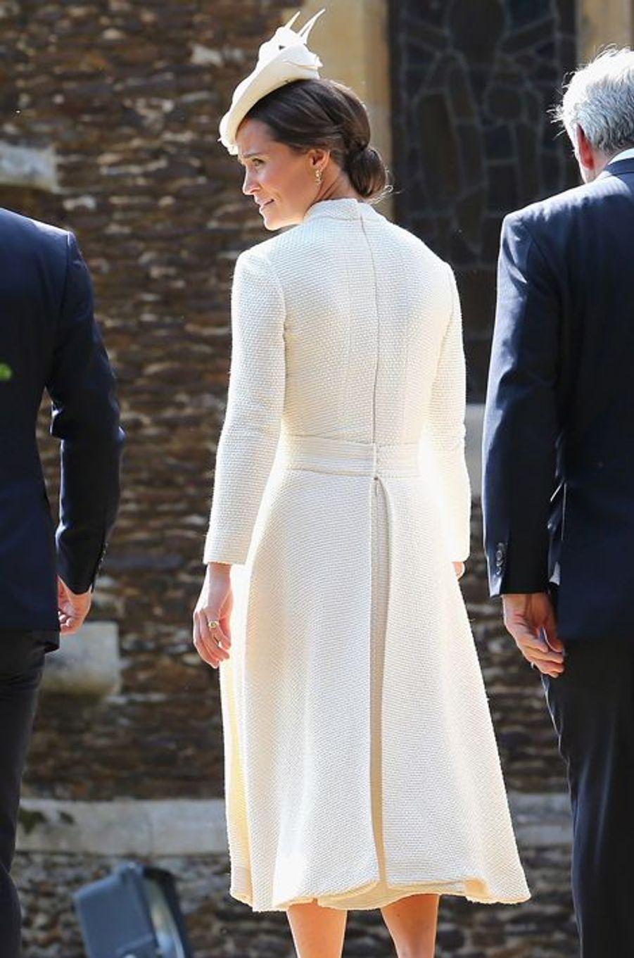 Pippa Middleton au baptême de la princesse Charlotte à Sandringham, le 5 juillet 2015