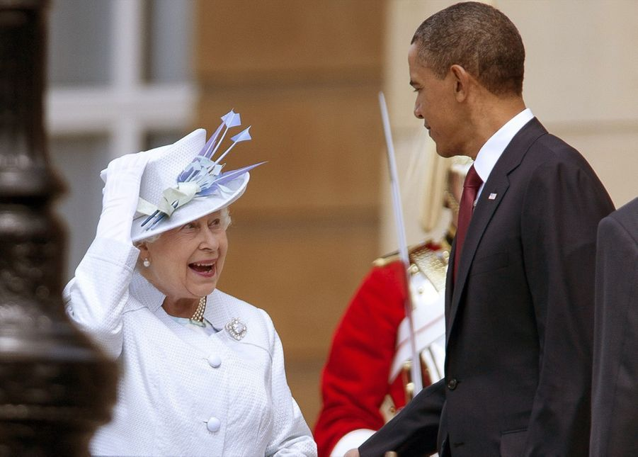 Barack Obama et la reine Elizabeth II à Buckingham en mai 2011.