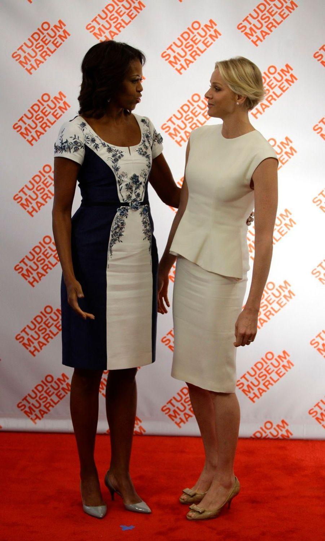 Michelle Obama et la princesse Charlène de Monaco à New York en septembre 2013.