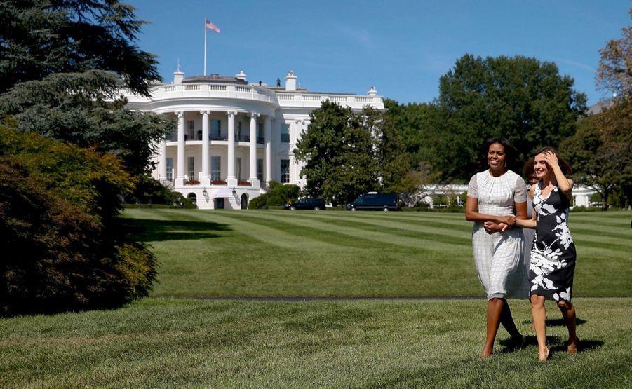 Michelle Obama et la reine Letizia d'Espagne à Washington en septembre 2015