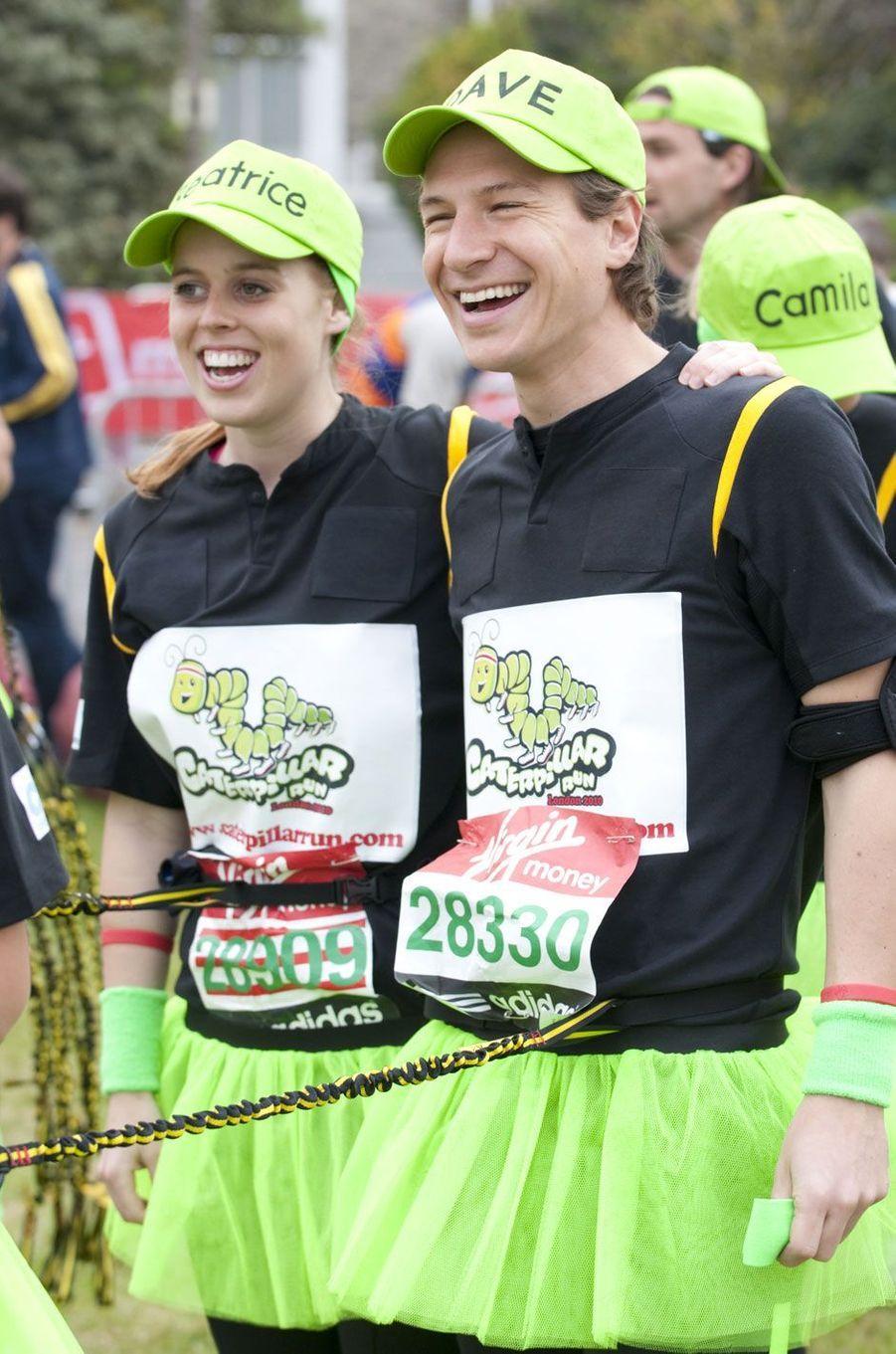 Ici lors du marathon de Londres en 2010