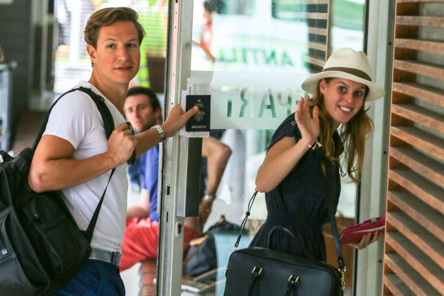 Le couple s'envole pourSaint-Barthelemy, en 2010
