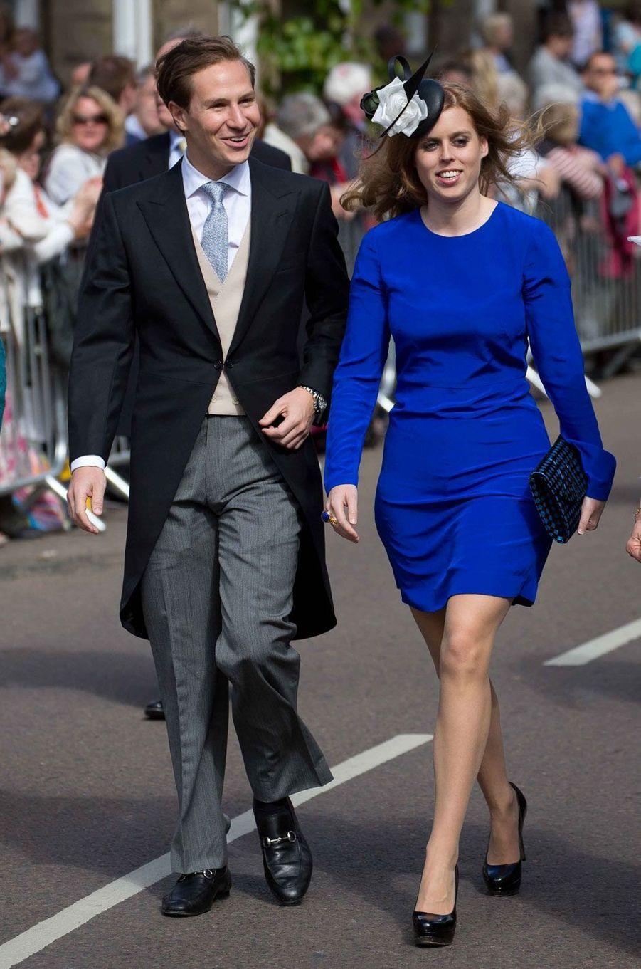 Le couple arrive au mariage deLady Melissa Percy et Thomas van Straubenzee, à Alnwick, en 2013