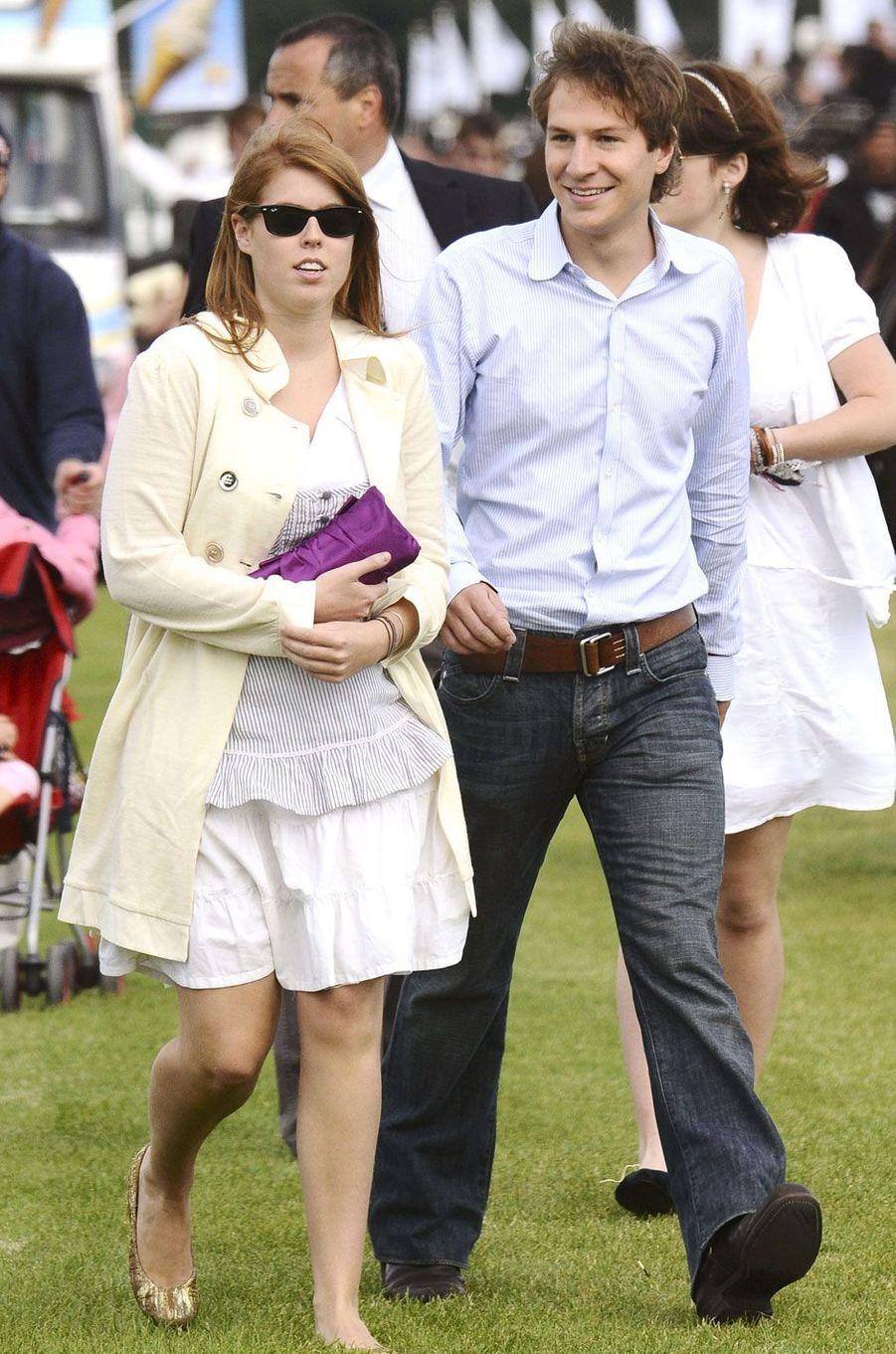 Le couple, ensemble depuis un an, assiste à la la Coupe de la Reine de polo, en 2008
