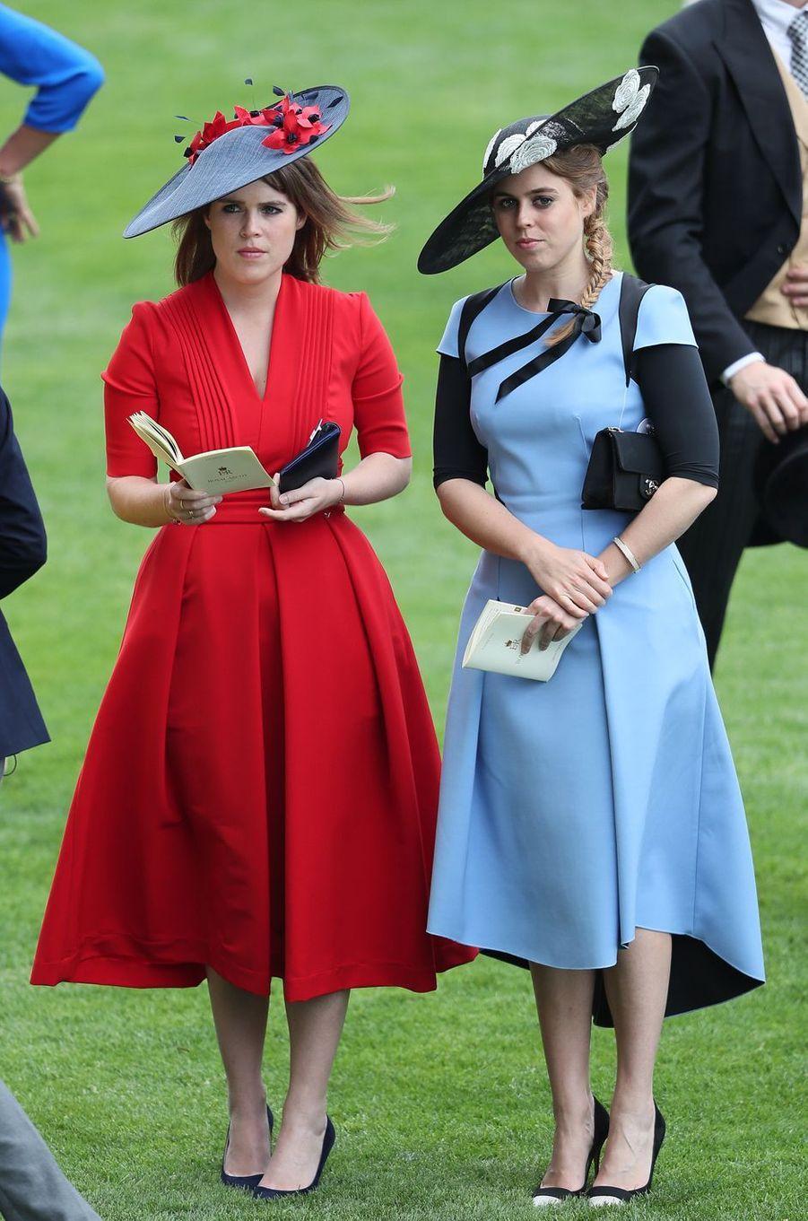 Les princesses Eugenie et Beatrice d'York à Ascot, le 22 juin 2017