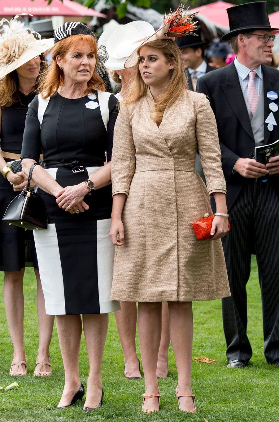La princesse Beatrice d'York à Ascot, le 23 juin 2017