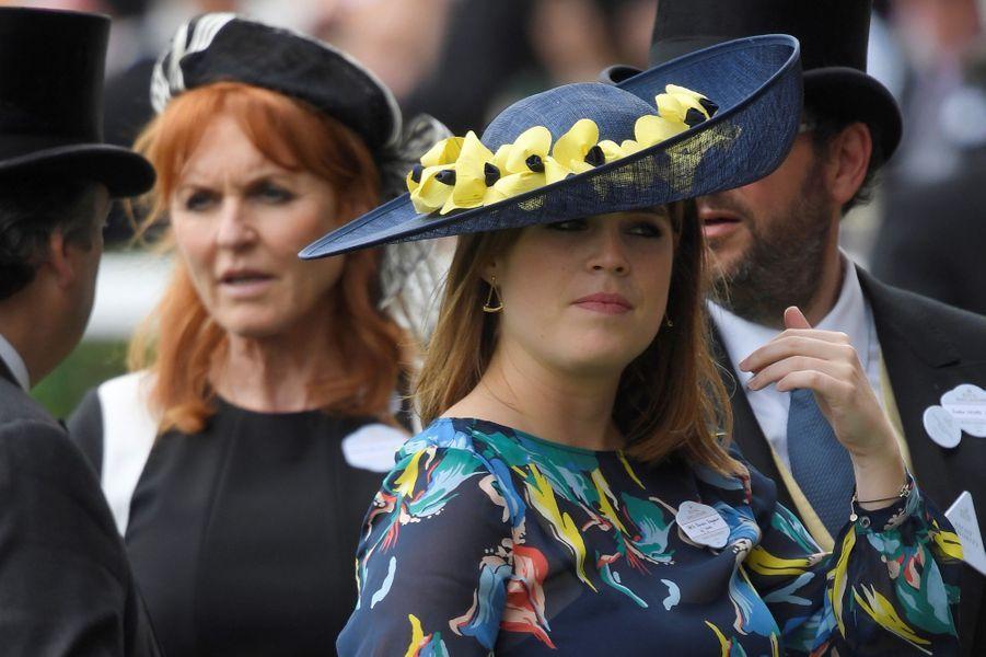 La princesse Eugenie d'York à Ascot, le 23 juin 2017