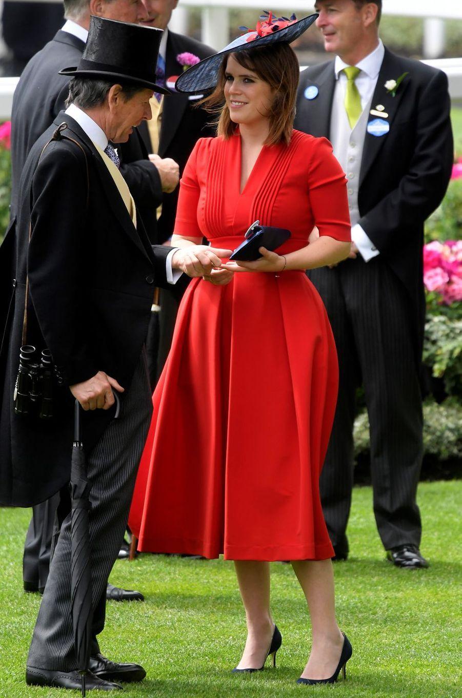 La princesse Eugenie d'York à Ascot, le 22 juin 2017