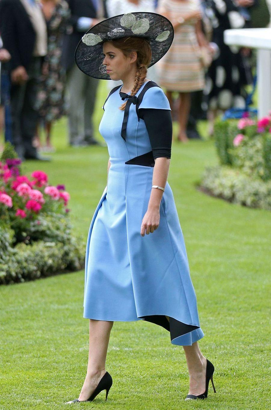 La princesse Beatrice d'York à Ascot, le 22 juin 2017