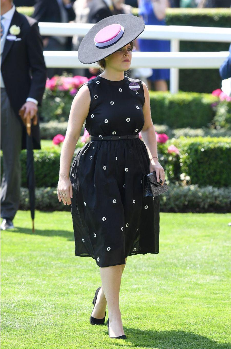 La princesse Eugenie d'York à Ascot, le 20 juin 2017