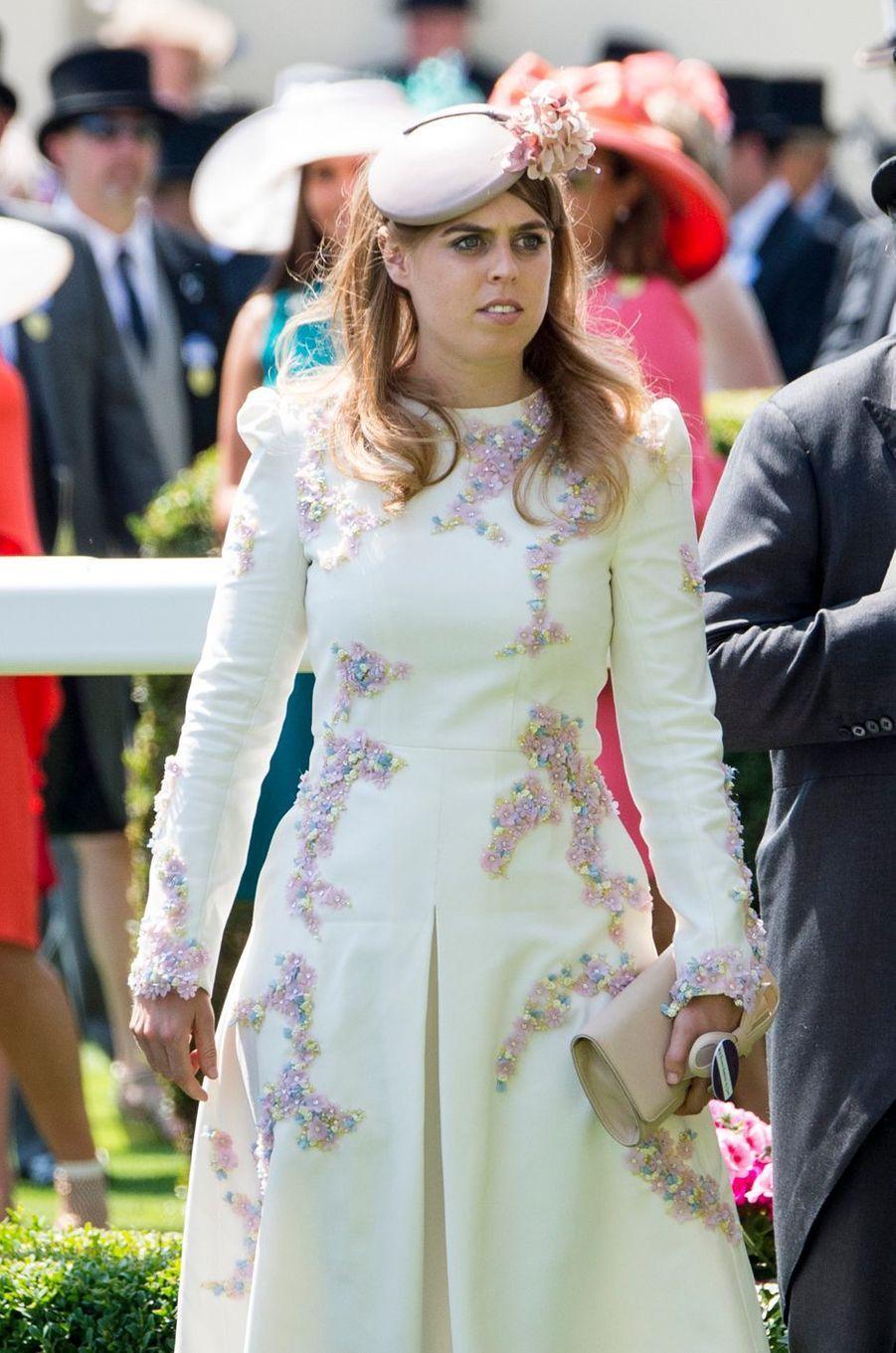 La princesse Beatrice d'York à Ascot, le 20 juin 2017