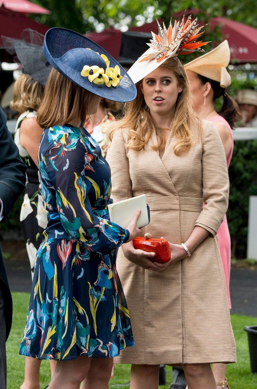 Les princesses Eugenie et Beatrice d'York à Ascot, le 23 juin 2017