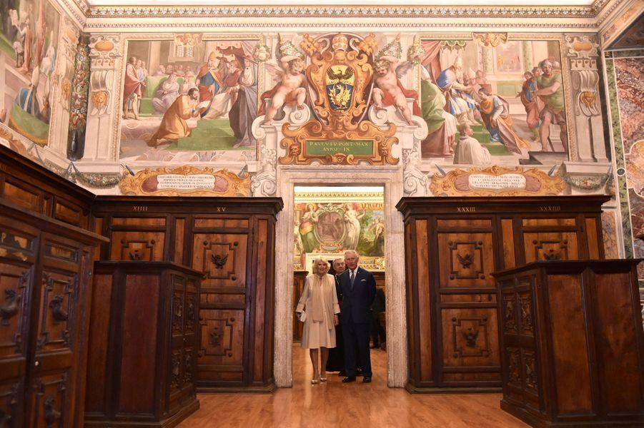 Le prince Charles et la duchesse de Cornouailles Camilla au Vatican, le 4 avril 2017
