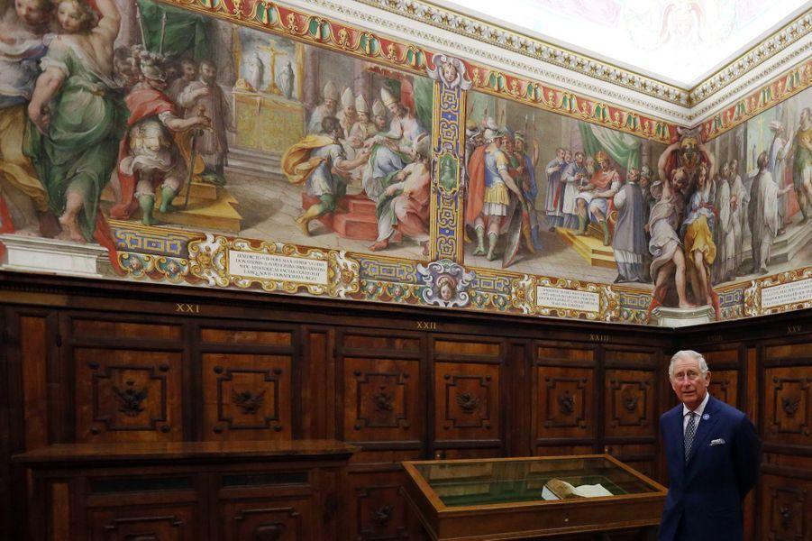 Le prince Charles au Vatican, le 4 avril 2017