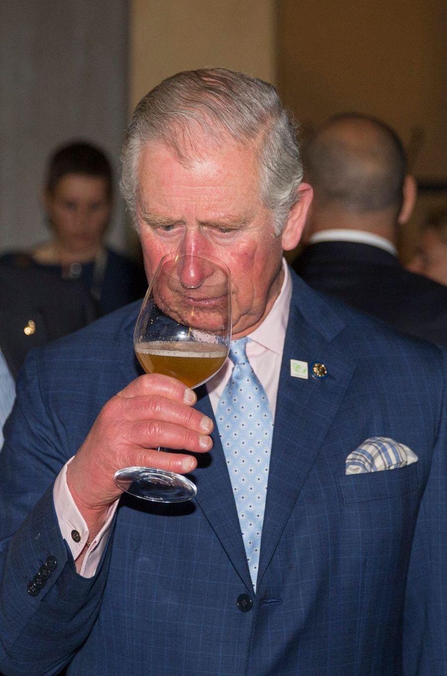 Le prince Charles à Florence, le 3 avril 2017