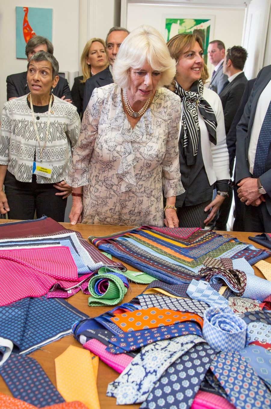 La duchesse de Cornouailles Camilla à Naples, le 1er avril 2017