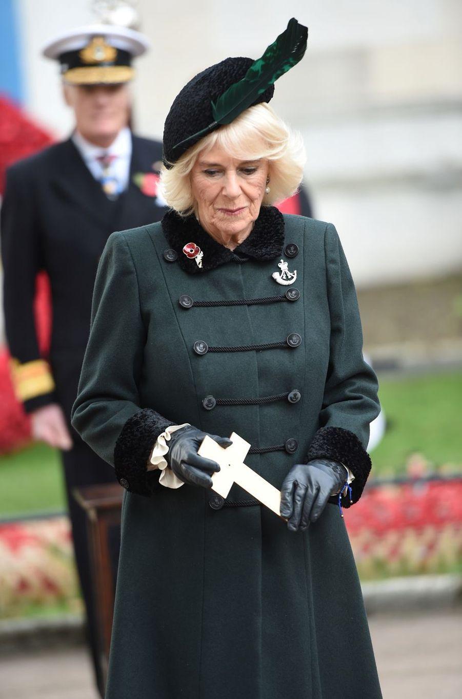 La duchesse de Cornouailles Camilla lors du «Field of Remembrance» à Londres, le 4 novembre 2020