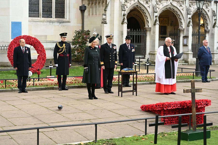 La duchesse de Cornouailles Camilla lors du 92e «Field of Remembrance» à Londres, le 4 novembre 2020