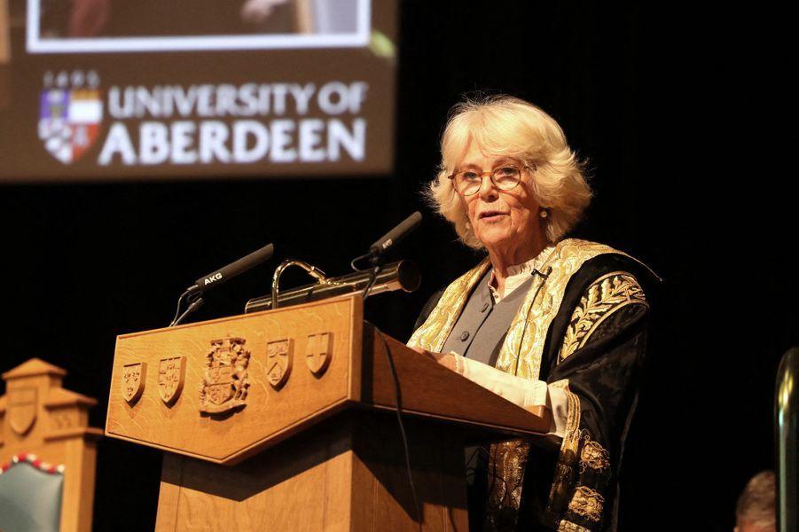 Camilla Parker-Bowles, duchesse de Cornouailles, à Aberdeen en Ecosse, le 14 janvier 2020