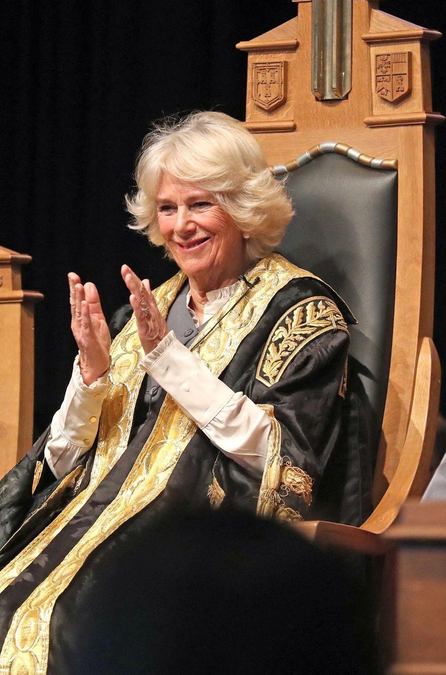La duchesse de Cornouailles Camilla, à Aberdeen en Ecosse le 14 janvier 2020