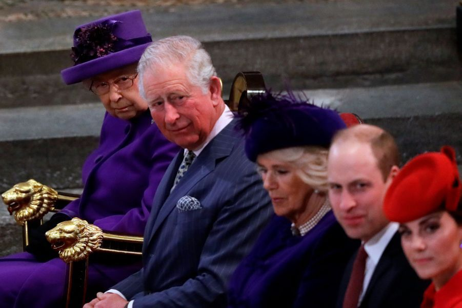 La reine Elizabeth II et la duchesse de Cornouailles Camilla à Londres, le 11 mars 2019