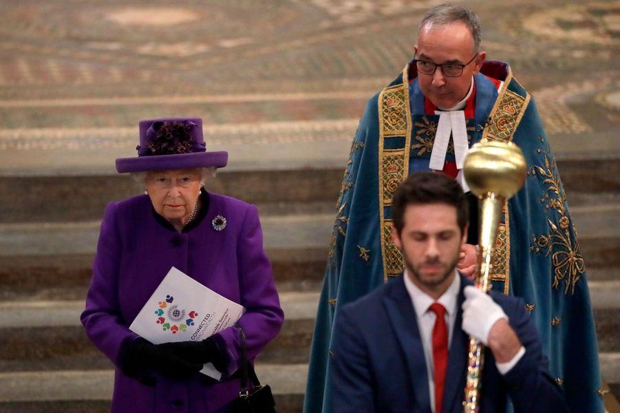 La reine Elizabeth II à Londres, le 11 mars 2019