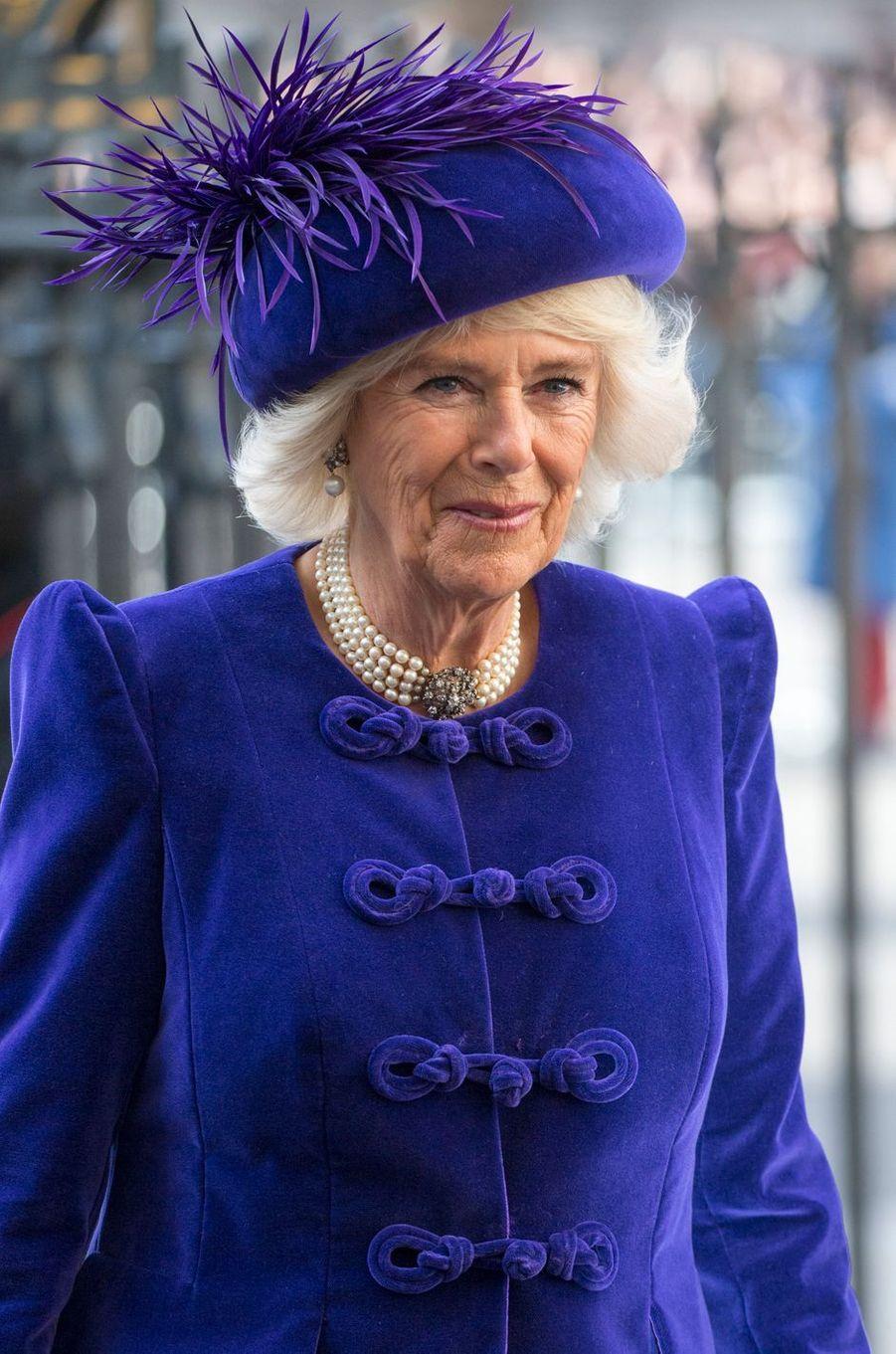 Camilla Parker-Bowles à Londres, le 11 mars 2019