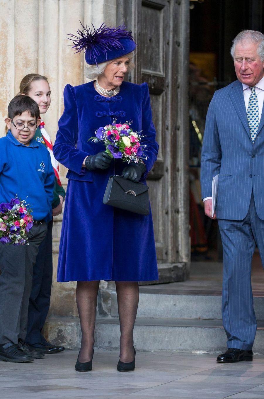 La duchesse de Cornouailles Camilla à Londres, le 11 mars 2019