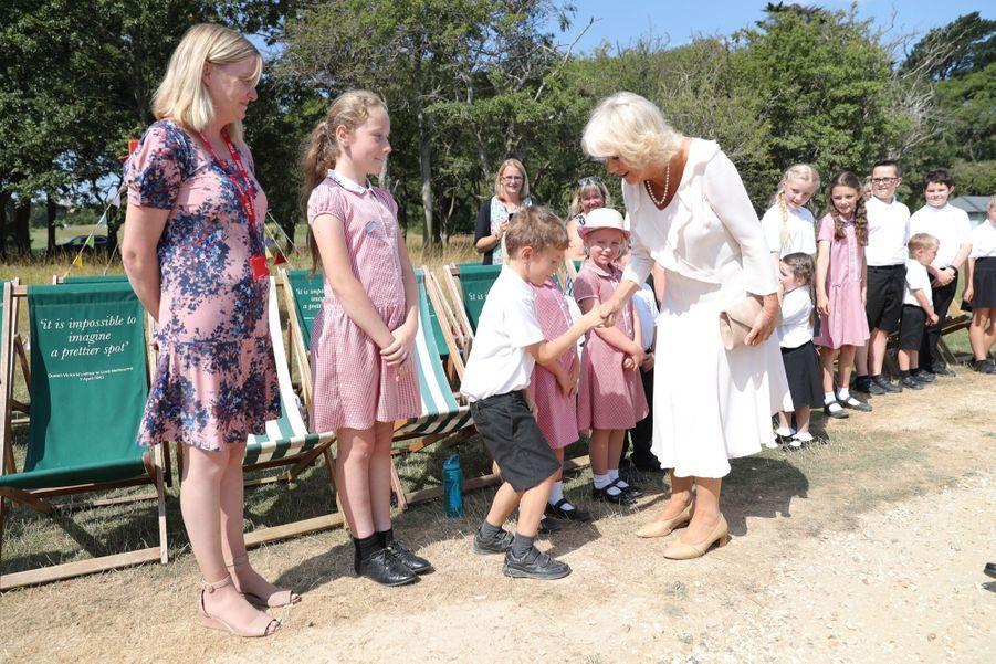 Camilla en visite sur l'île de Wight, mardi 24 juillet.