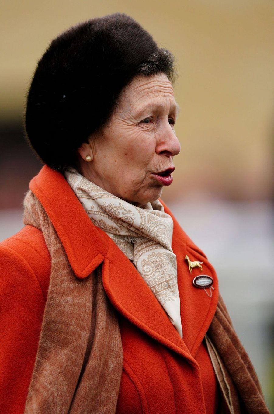 La princesse Anne, le 10 mars 2020 au Cheltenham Festival