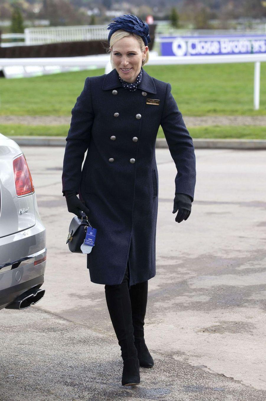 Zara Phillips, fille de la princesse Anne, au Cheltenham Festival, le 10 mars 2020