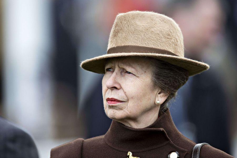 La princesse Anne au Cheltenham Festival, le 11 mars 2020