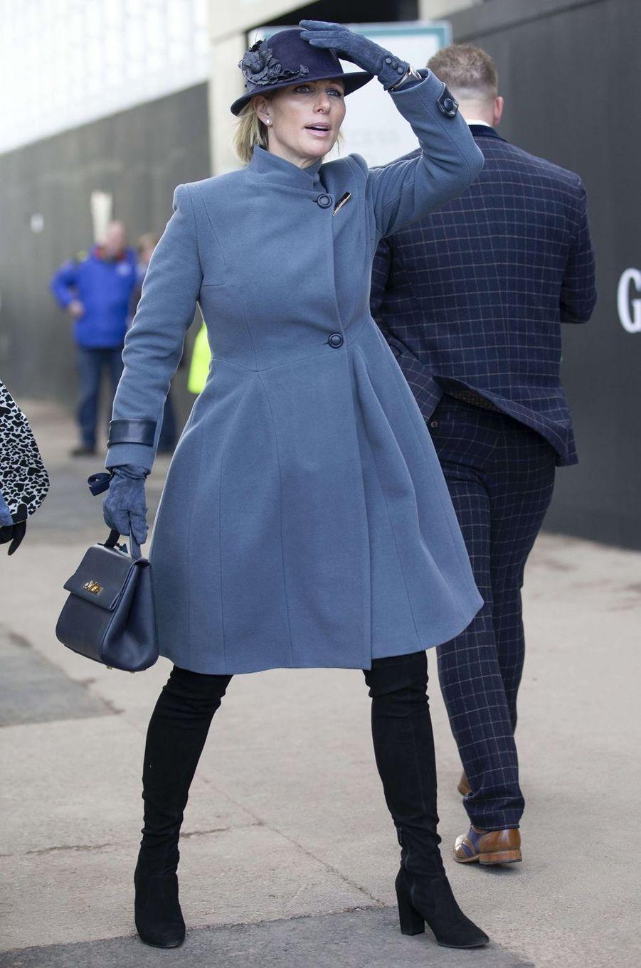 Zara Phillips au Cheltenham Festival, le 12 mars 2020