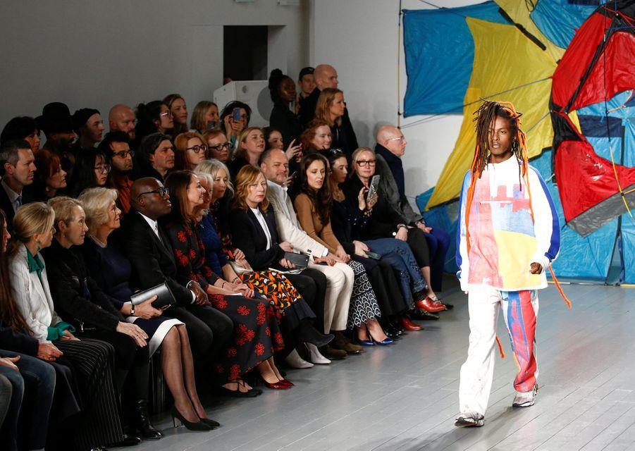 Camilla, la duchesse de Cornouailles, à la Fashion Week à Londres, le 19 février 2019