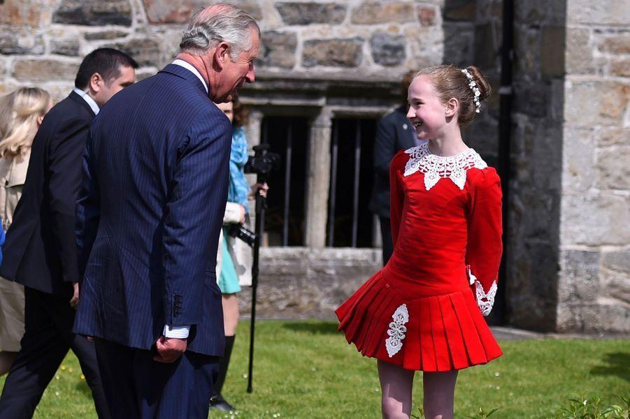 Le prince Charles au château de Donegal, le 25 mai 2016