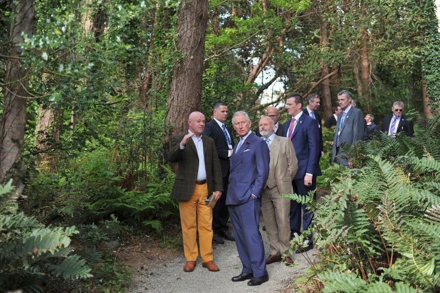 Le prince Charles dans le parc national de Glenveagh, le 25 mai 2016
