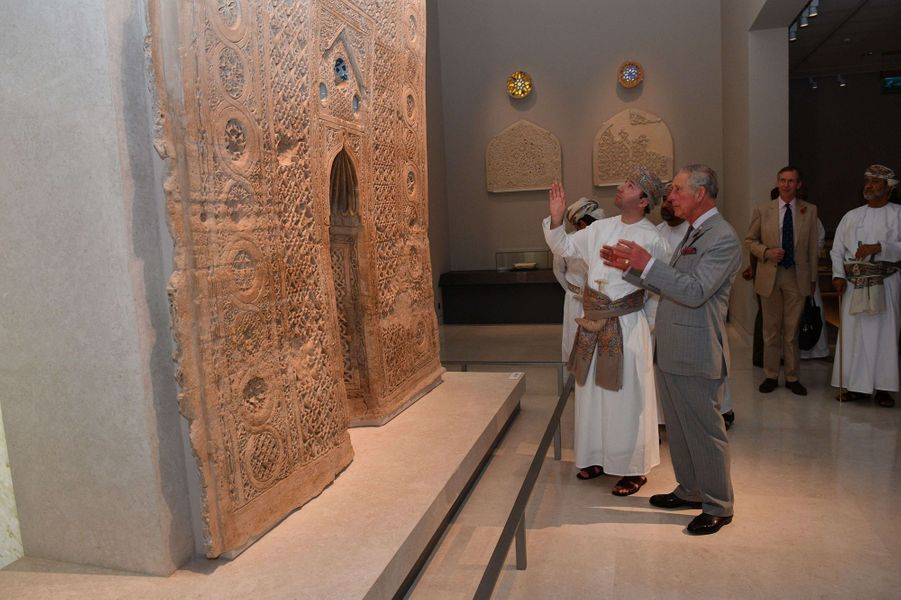Le prince Charles au Musée national à Mascate, le 5 novembre 2016