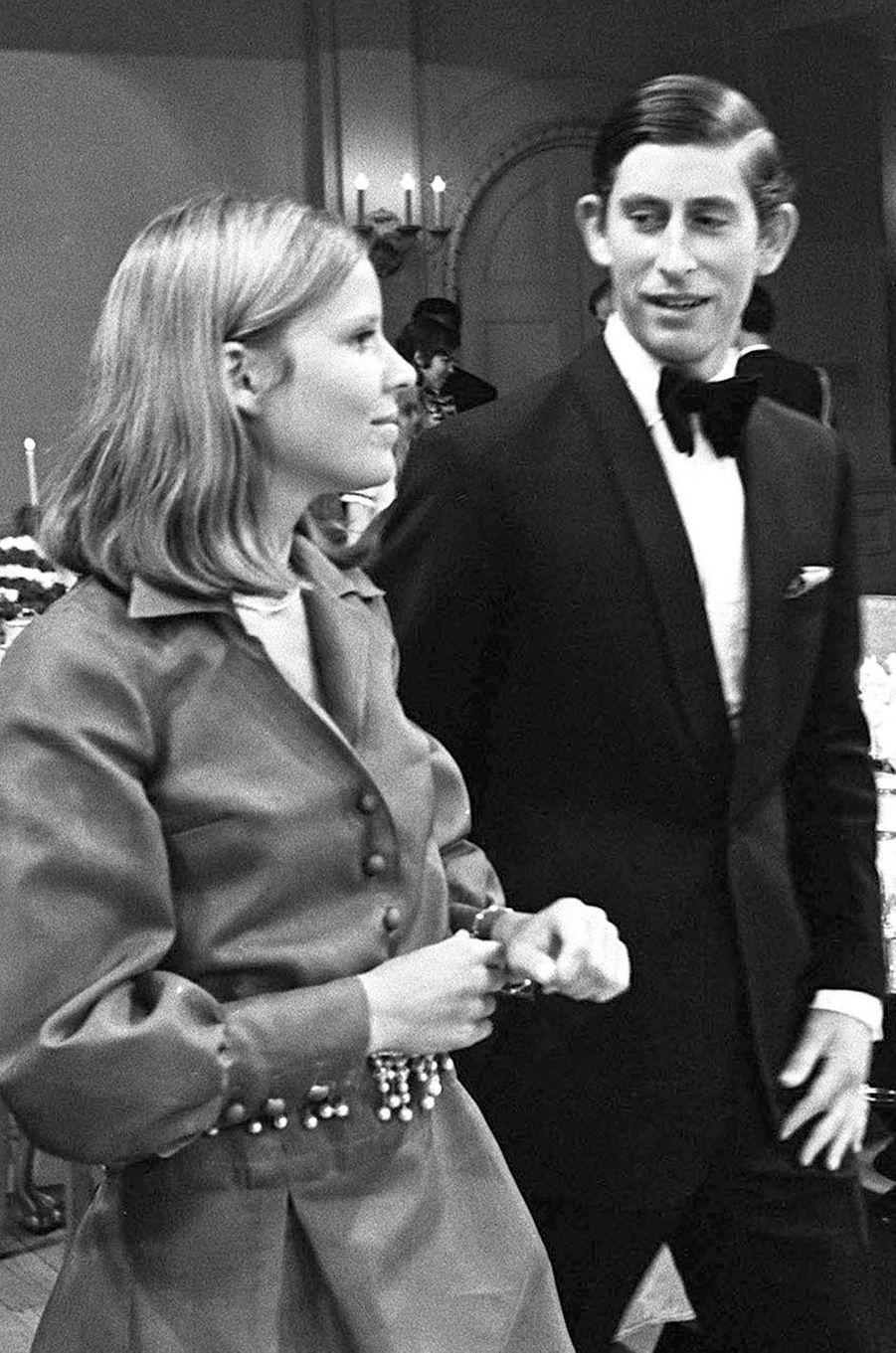Le prince Charles avec la nièce du premier Ministre Pierre Trudeau à Ottawa, le 4 juillet 1970