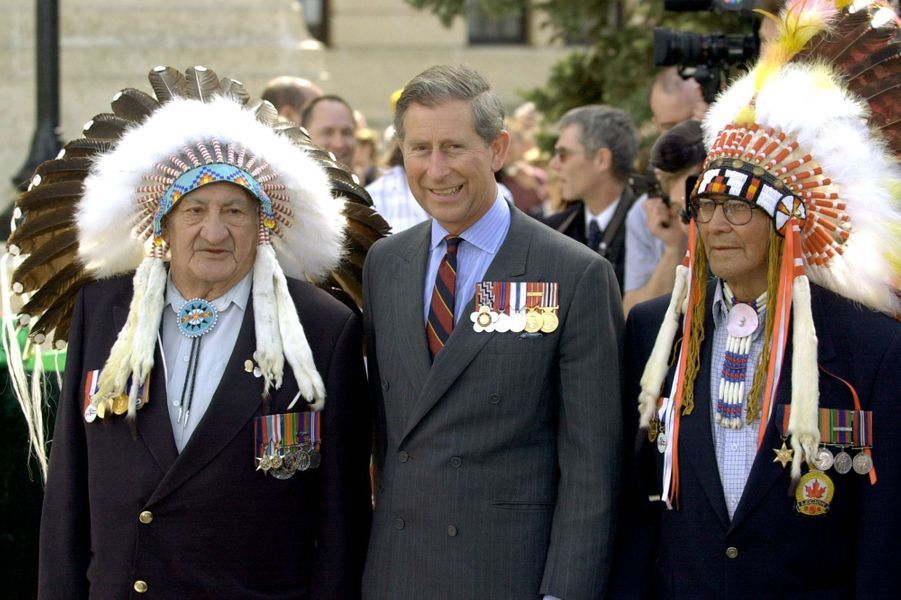 Le prince Charles à Regina, le 26 avril 2001
