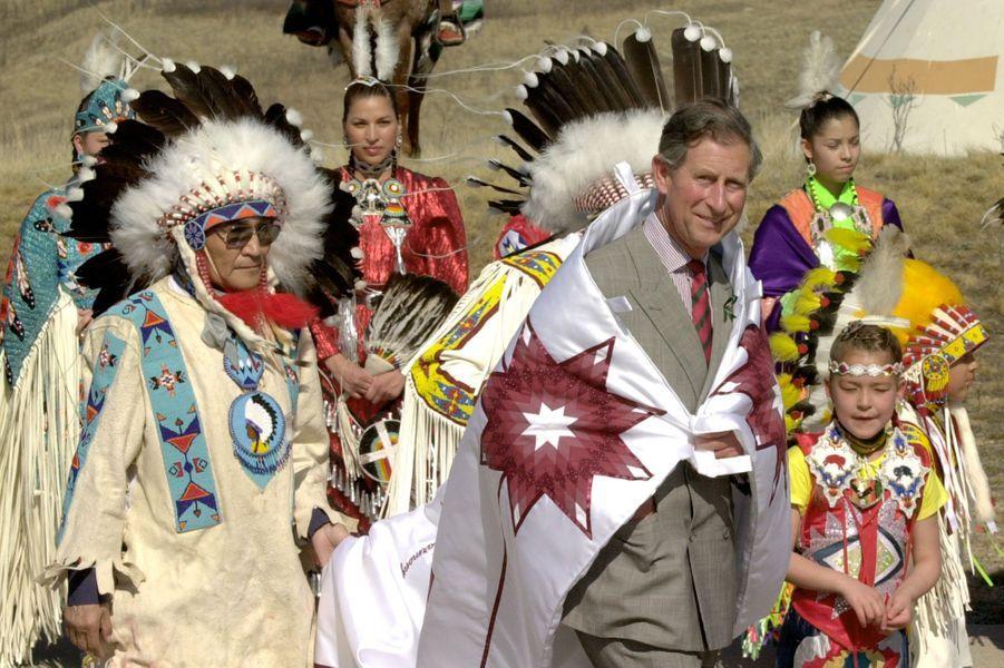 Le prince Charles à Saskatoon, le 28 avril 2001