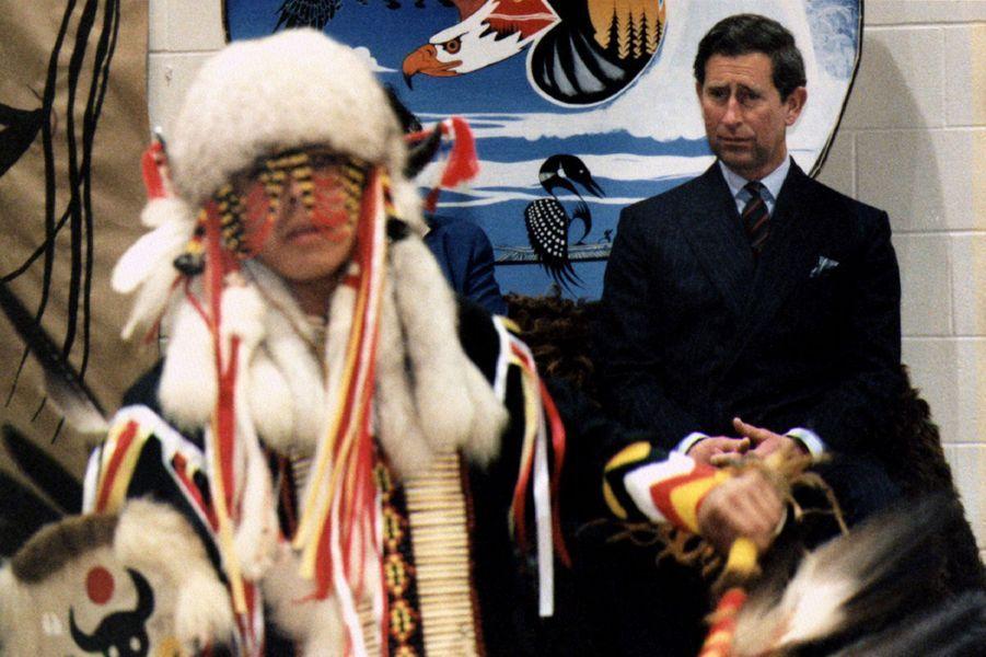 Le prince Charles à Winnipeg, le 25 avril 1996