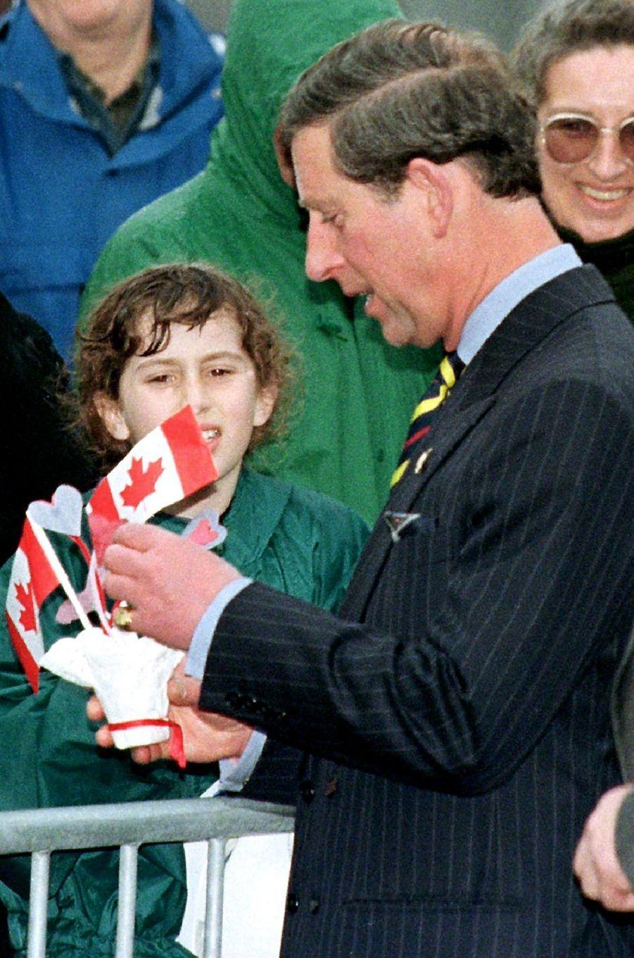 Le prince Charles à Ottawa, le 23 avril 1996
